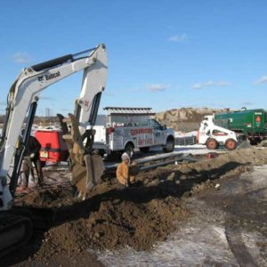 Excavation for electrical contractor jobs