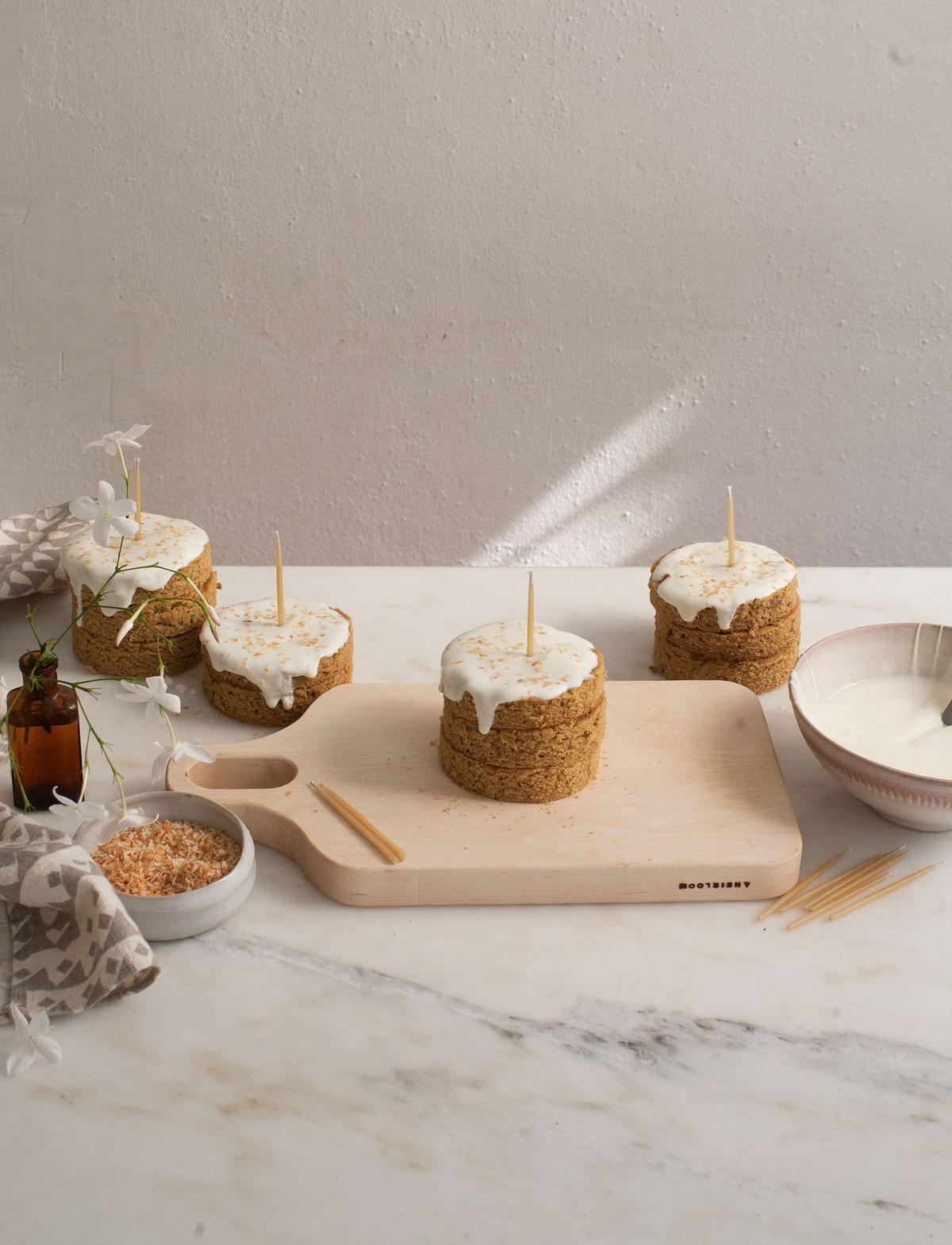 Grain Free Mini Dog Cakes For Amelia S Birthday A Cozy