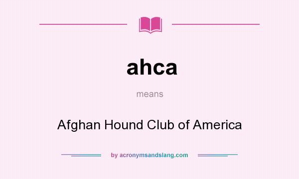 Afghan Hound Club America