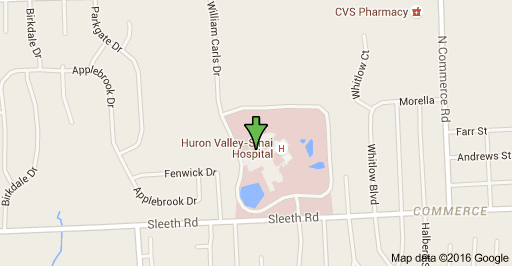 Map Huron Valley Hospital
