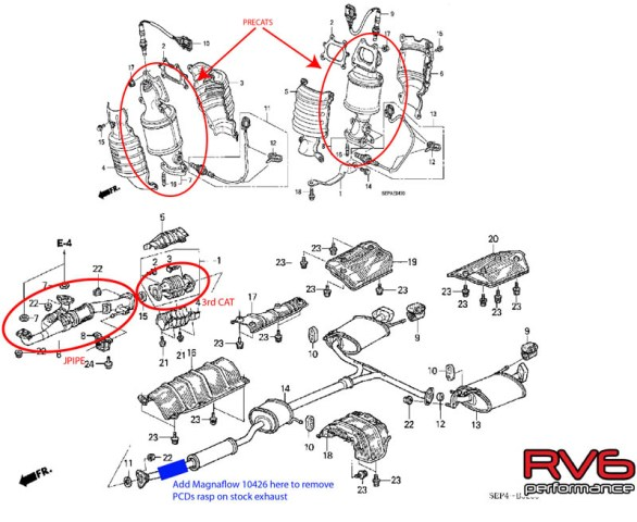 Acura Tl Exhaust Systems - Acura tl exhaust