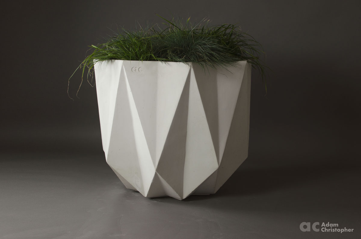 Prisme Planter White Concrete 80 X 80 X 65 5cm Award