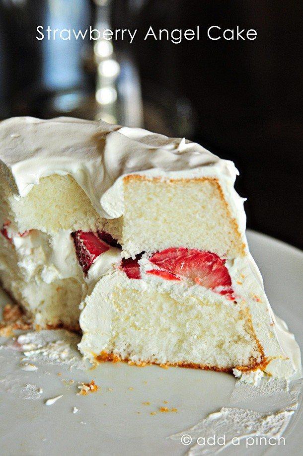 Strawberry Angel Cake Recipe Add A Pinch