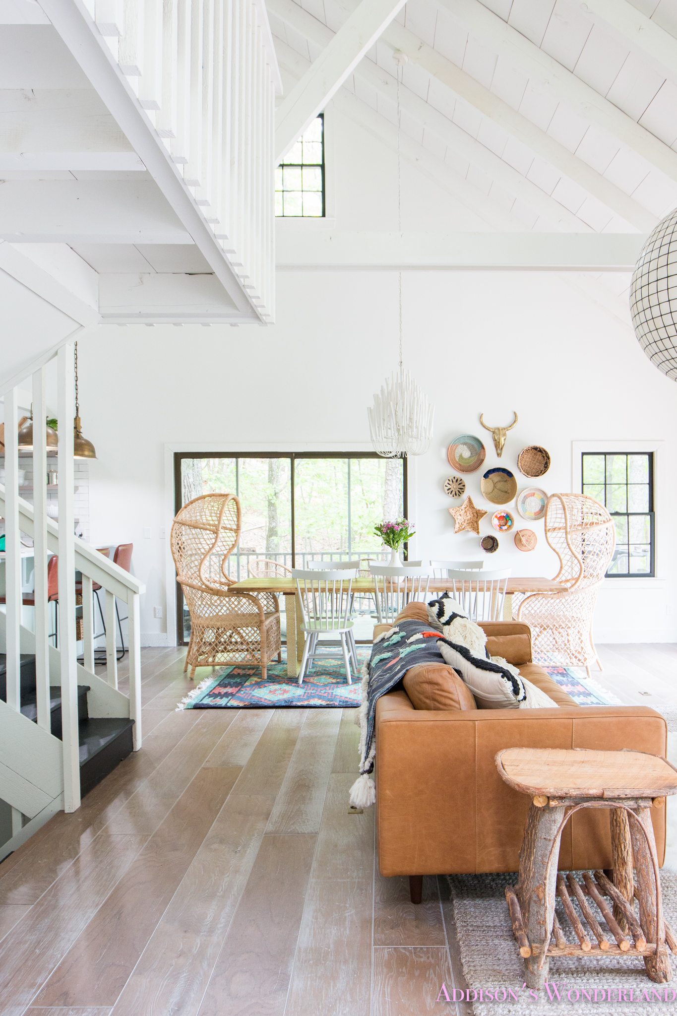 Leather Dining White Chairs