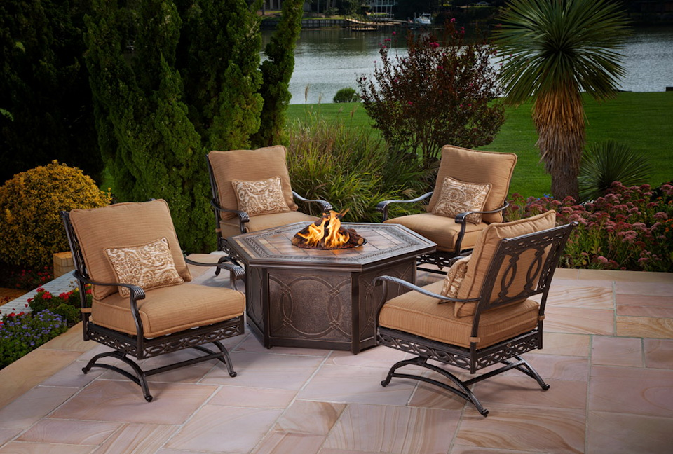 Agio Patio Furniture Gas Fire Pit