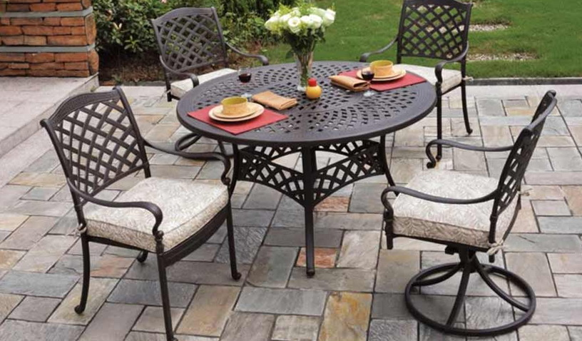 Antique Cast Aluminum Patio Furniture