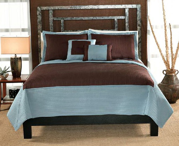Aqua Blue And Brown Bedding Sets
