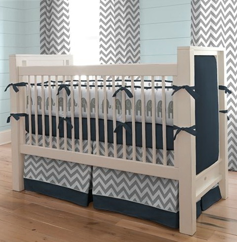 Baby Boy Bedding Grey