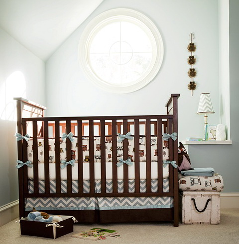 Baby Boy Crib Bedding Chevron