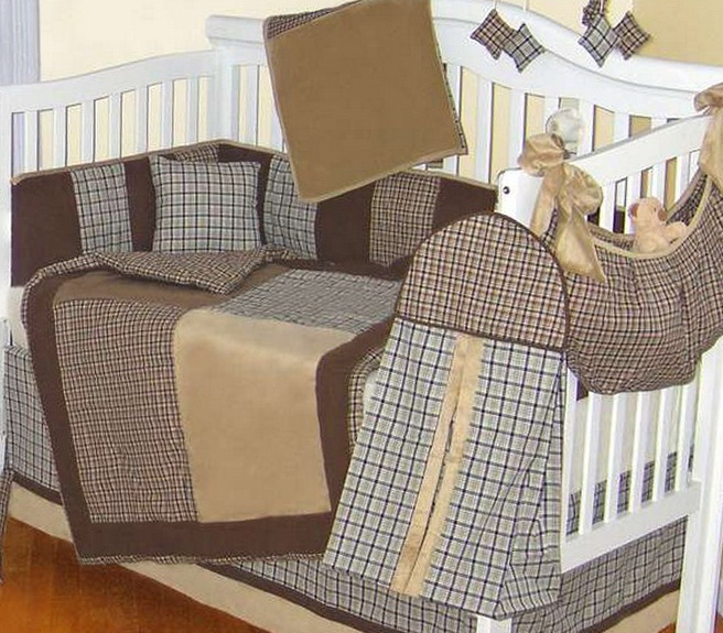 Baby Boy Crib Bedding Sets Plaid
