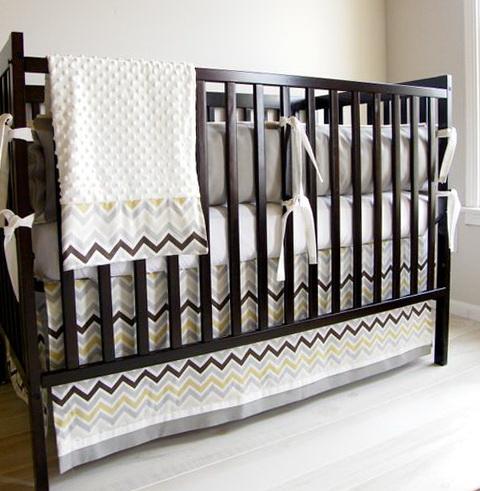 Baby Crib Bedding Chevron
