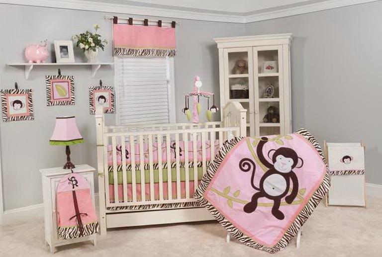 Baby Crib Bedding Monkey