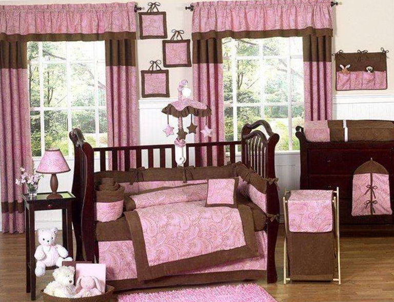 Baby Girl Crib Bedding Sets Pink And Brown