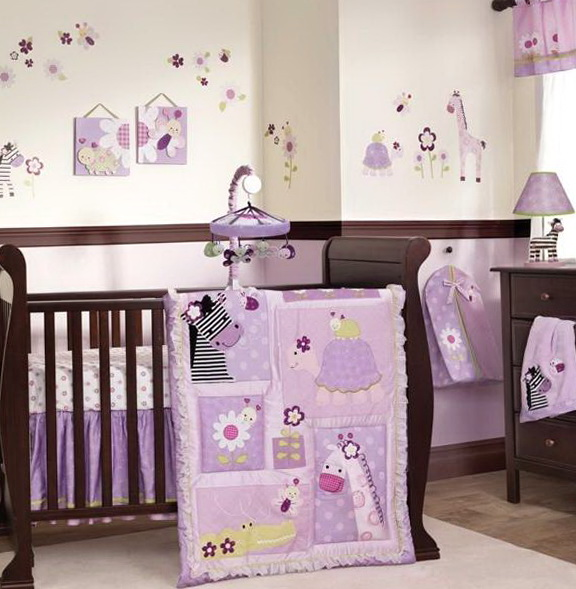Baby Girl Nursery Bedding Purple