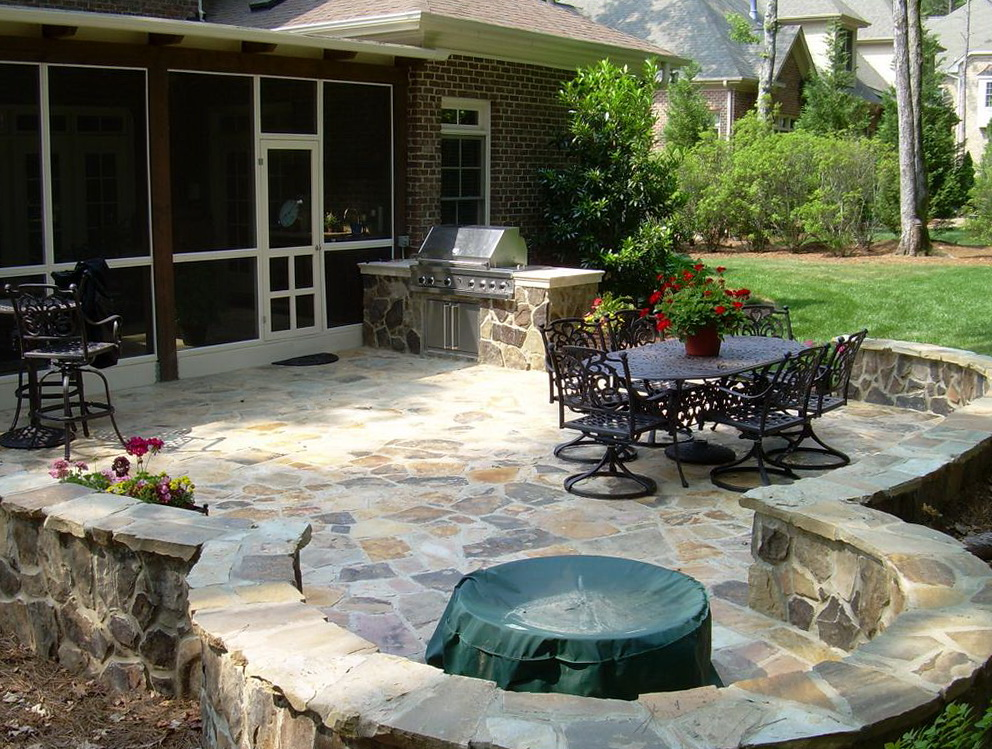 Backyard Patio Ideas Stone