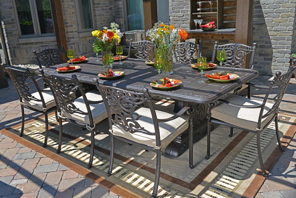 Cast Aluminum Patio Furniture Dining Sets