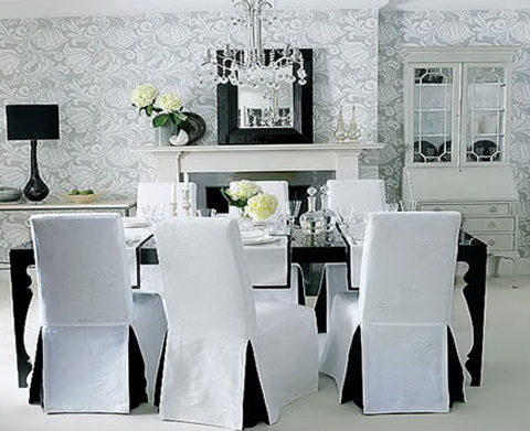 Dining Room Chair Covers With Arms