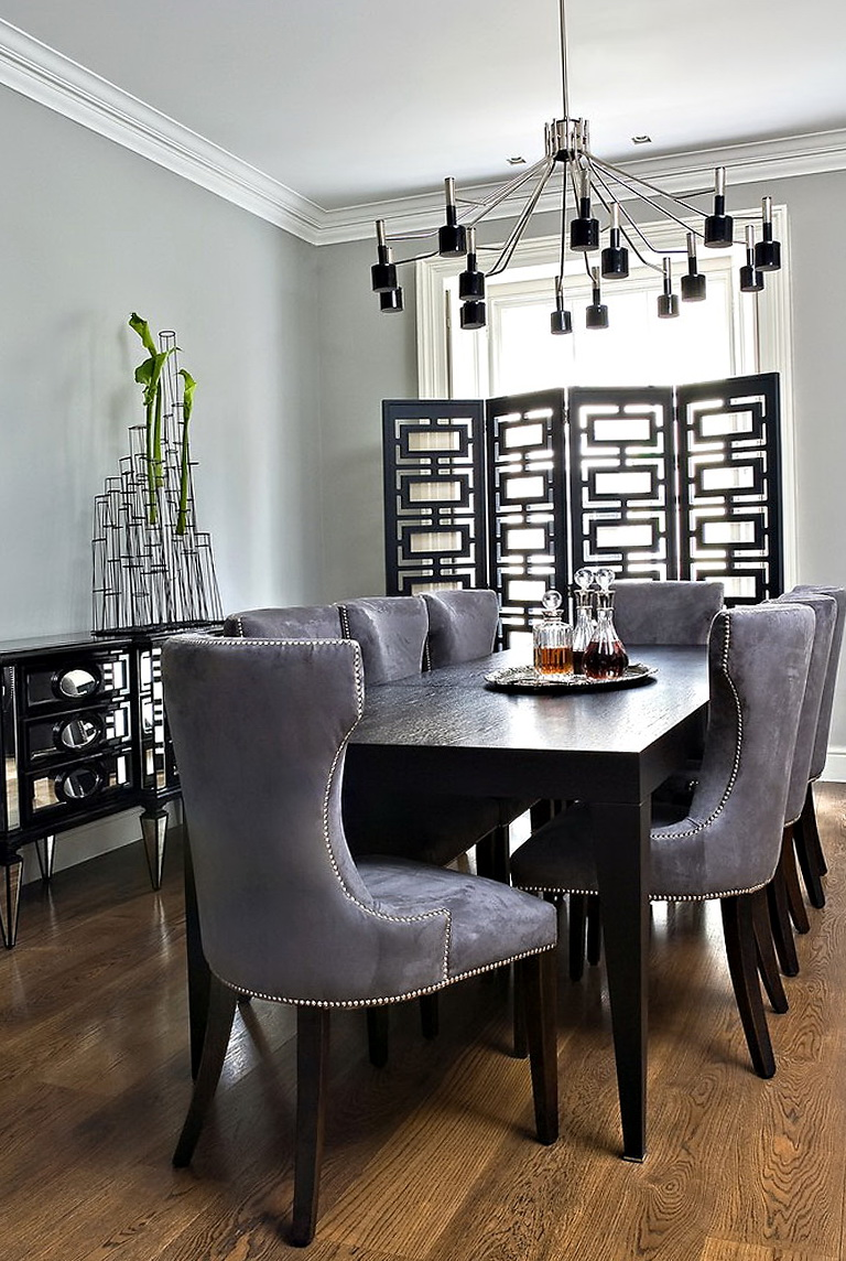 Grey Dining Room Chair Covers