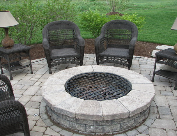 Patio Fire Pit Grill