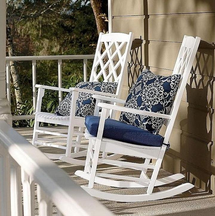 White Rocking Chair Cushions