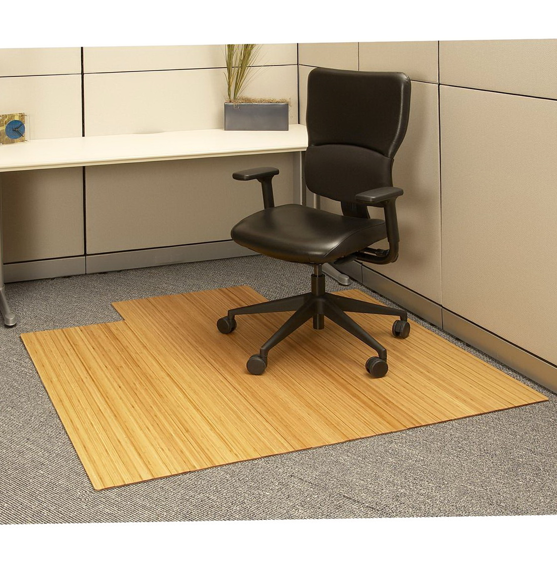 Bamboo Office Chair Mat