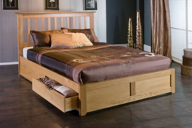 Bed Frame With Storage King