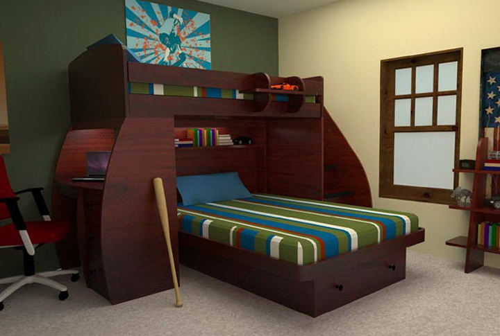 Berg Twin Over Full Bunk Bed With Stairs