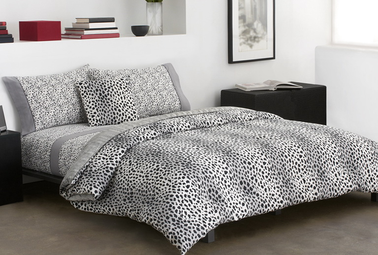 Black And White Cheetah Print Bedding