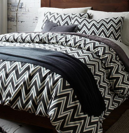 Black And White Chevron Bedding King