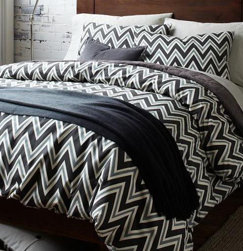 Black And White Chevron Bedding King
