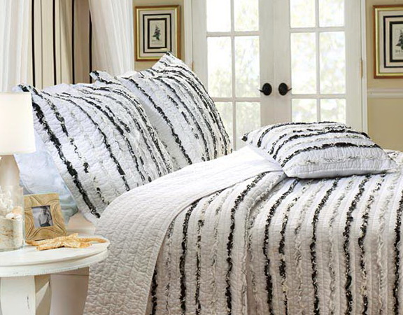 Black And White Ruffle Bedding