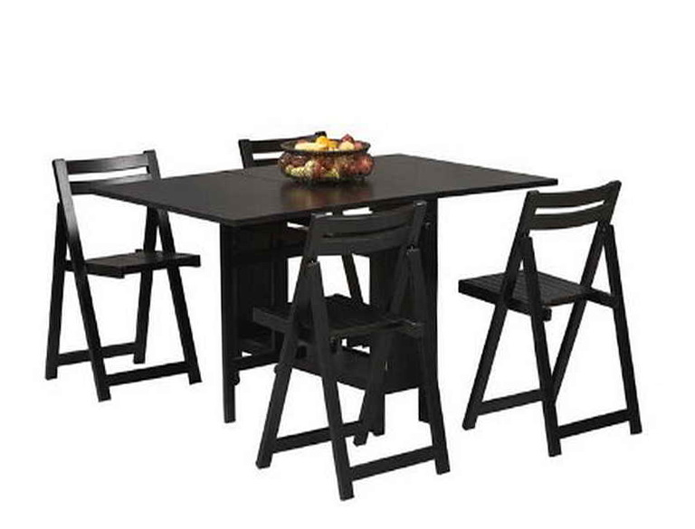 Black Folding Table And Chairs