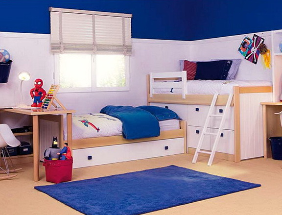 Blue Ikea Robin Twin Bed With Trundle