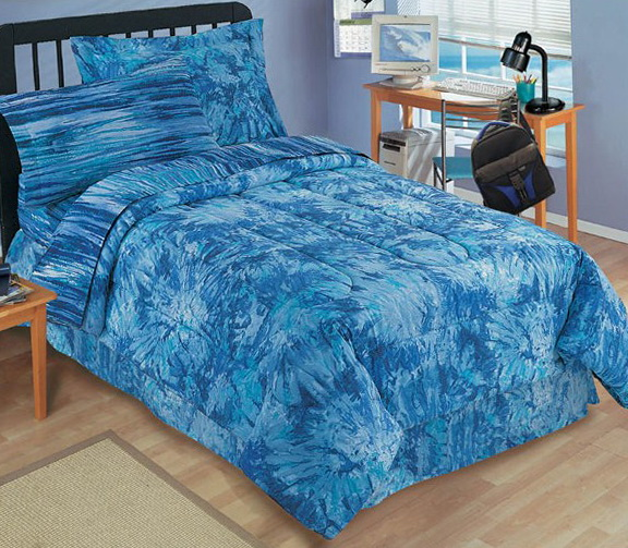 Blue Tie Dye Bedding