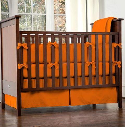 Boy Crib Bedding Orange