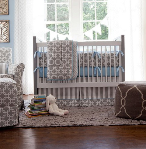 Boy Nursery Bedding Grey