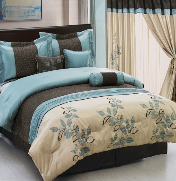 Brown And Tiffany Blue Bedding