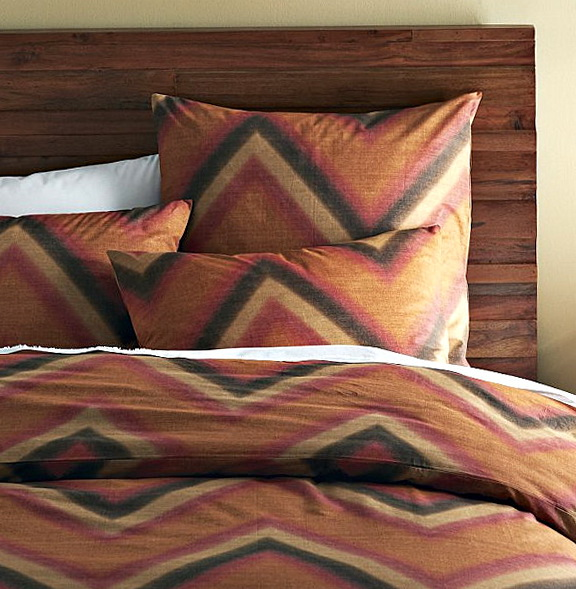 Brown Chevron Bedding Set