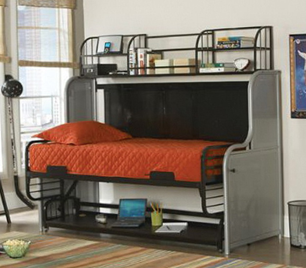 Bunk Bed Couch Desk