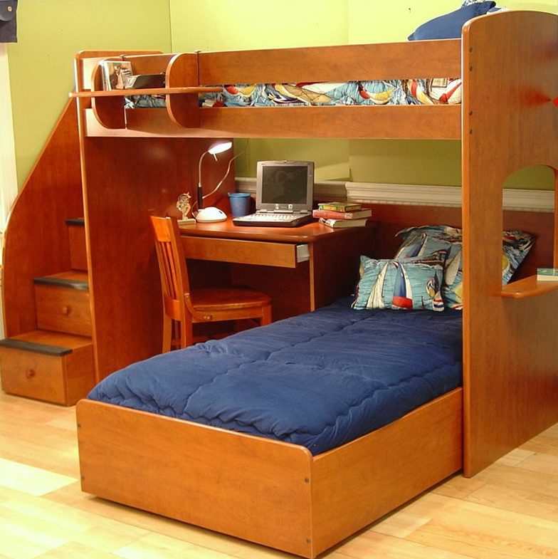 Bunk Bed With Stairs And Desk