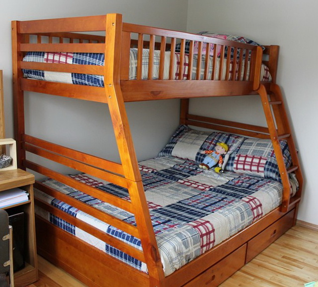 Bunk Beds Twin Over Full Wood