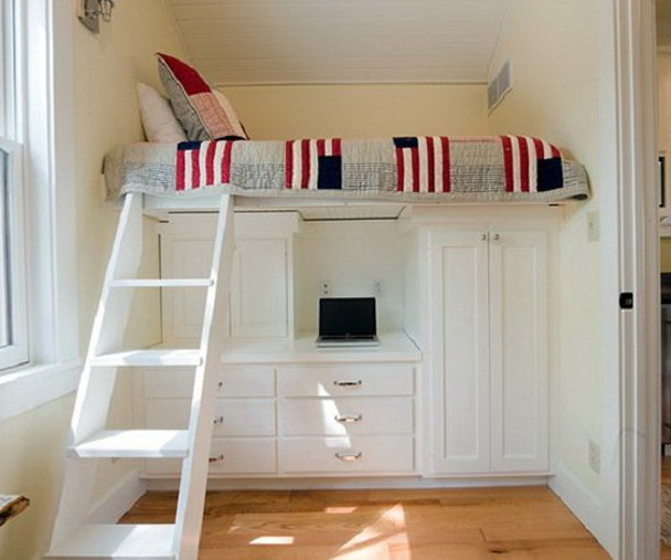Bunk Beds With Stairs And Desk For Girls