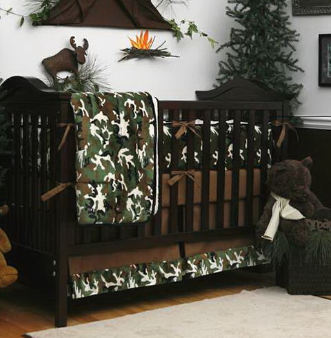 Camo Baby Bedding For Boys