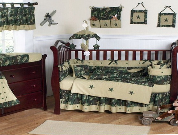 Camo Baby Boy Bedding Sets