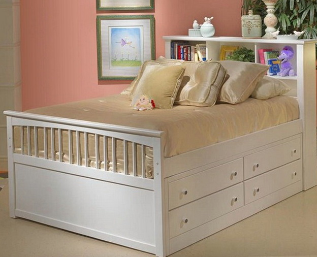 Captains Bed Twin With Drawers