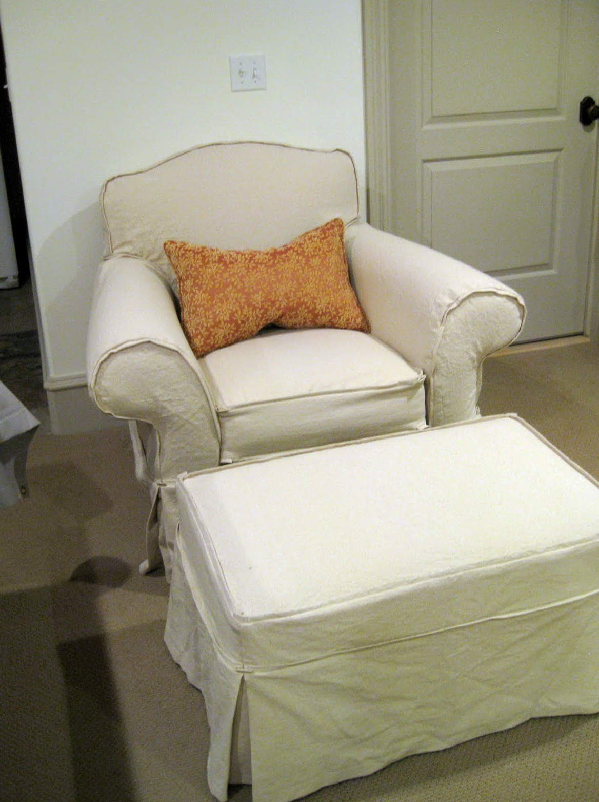 Chair And Ottoman Slipcovers