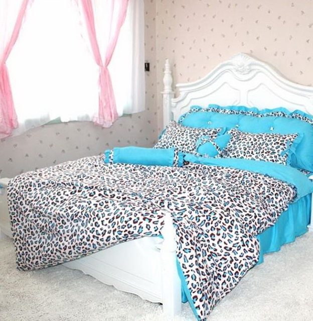 Cheetah Print Bedding Blue