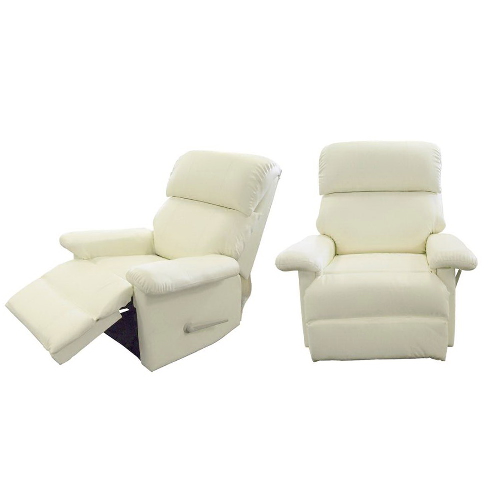 Cream Leather Recliner Chairs