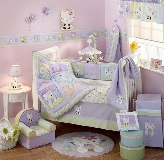 Cute Baby Girl Crib Bedding Sets