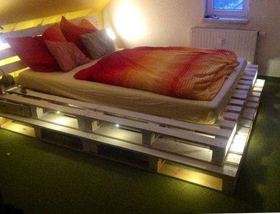 Diy Bed Frame With Lights